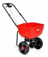 Lekki i zwrotny wózek rozsiewający nadaje się do rozrzucania wszelkiego rodzaju substancji (nasiona, sól, nawóz oraz piasek). Pojemność rozrzucanej substancji tego precyzyjnego urządzenia rozsiewającego z podpórką postojową wynosi 27 litrów. Urządzenie wykonane jest z tworzywa sztucznego. Waga rozsiewacza wynosi 4,4 kg. Dodatkową zaletą jest regulacja rozrzutu. Szerokość rozrzutu ok. 3 m.